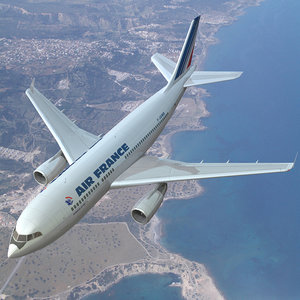 3d model air france airplanes