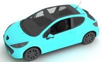 3d model of car 207