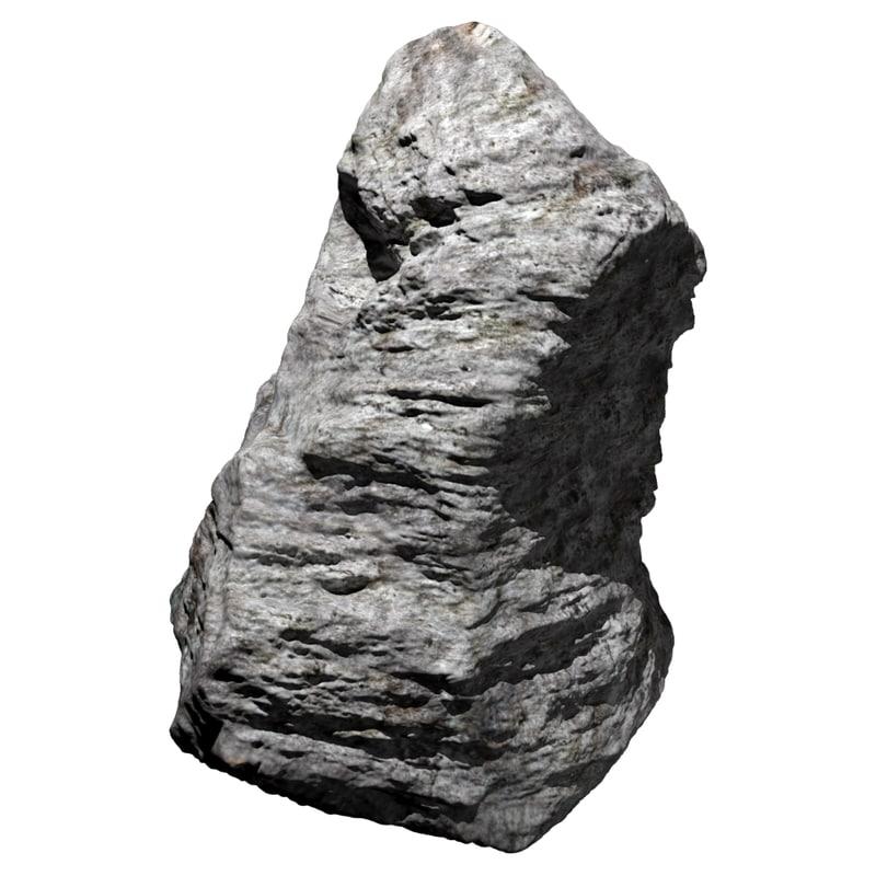 realistic rock 3d obj