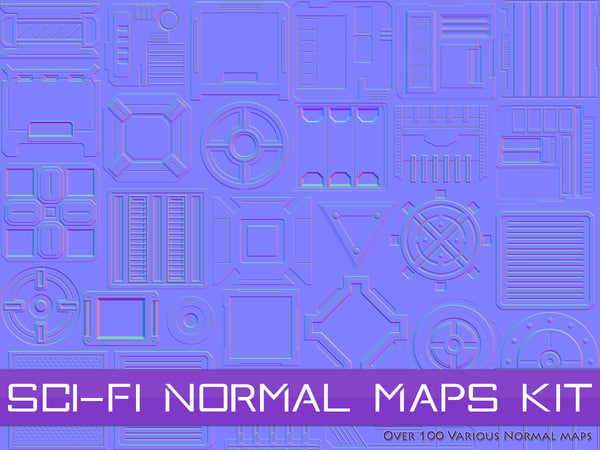 Sci-Fi Normal Maps Kit