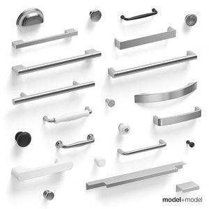 handles kitchen cabinets 3d model