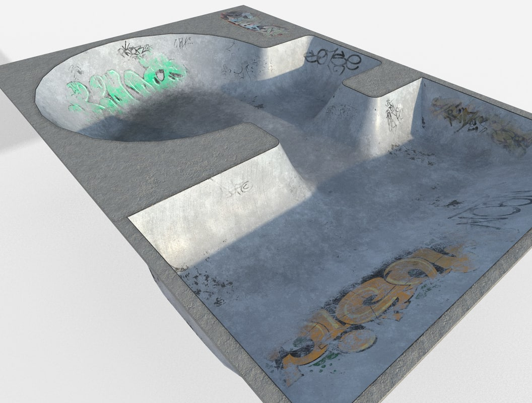 3d model skate park pool