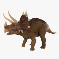 dinosaur triceratops cartoon 3d max