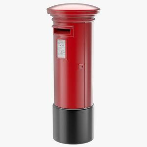 post box 1 3d fbx