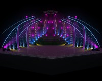 stage concert indoor 3d model