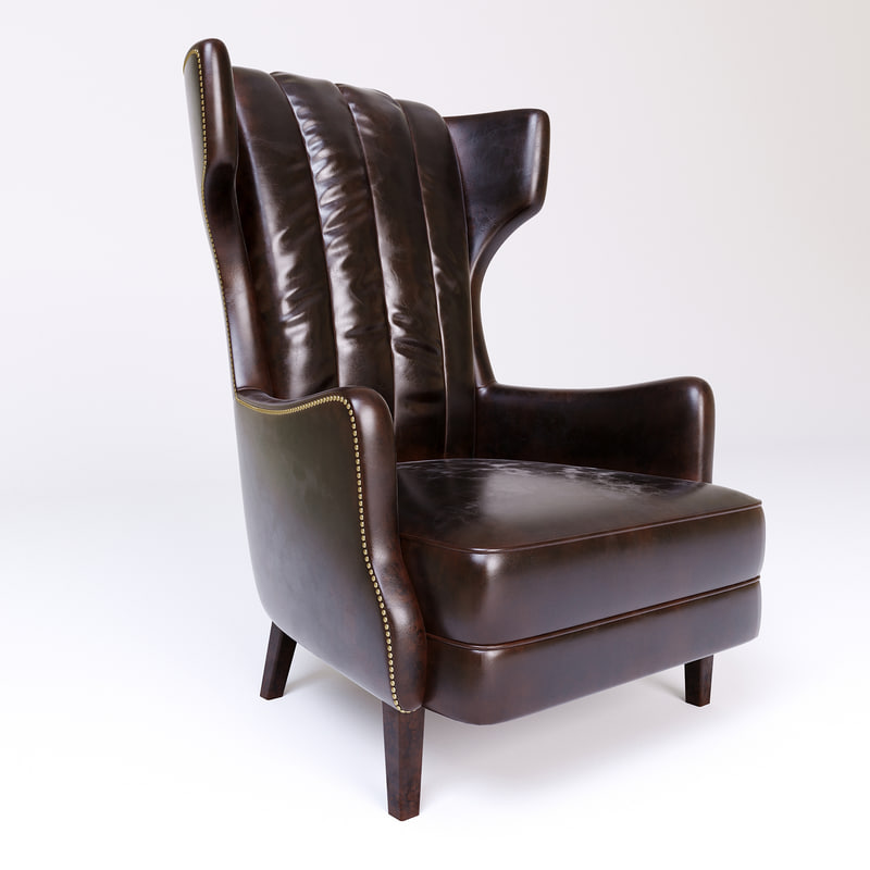 armchair manor timothy oulton 3d model