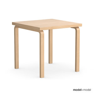 set rectangular tables alvar aalto 3d max