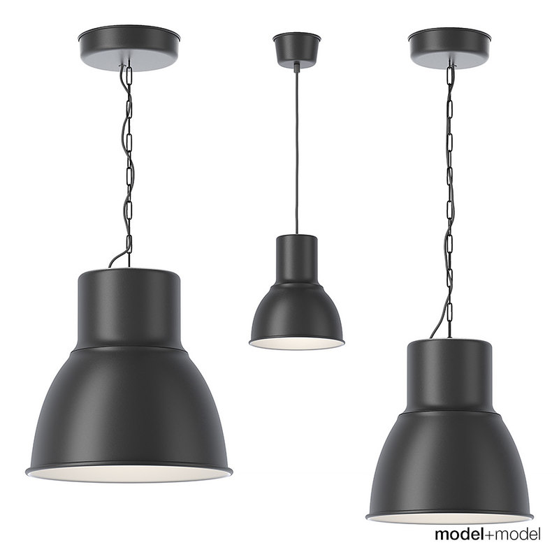 ikea hektar pendant lamps 3d model