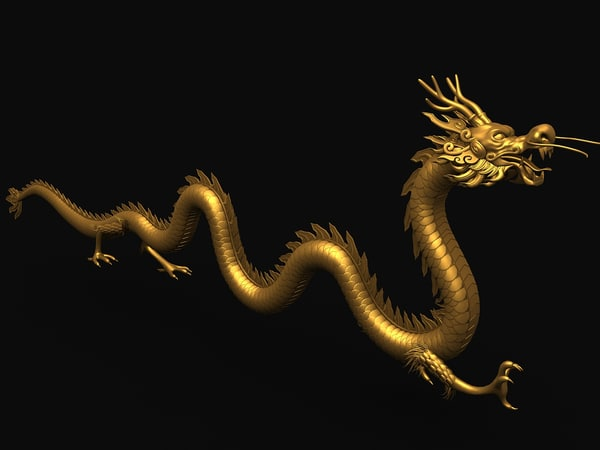 3d model ancient dragon chinese