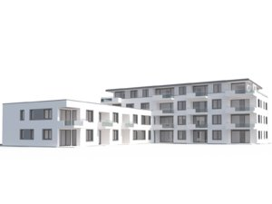 3d modern appartment complex model