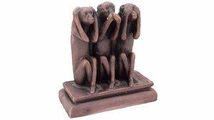 monkeys figurine - versions max