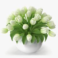vase tulips 2 3d model