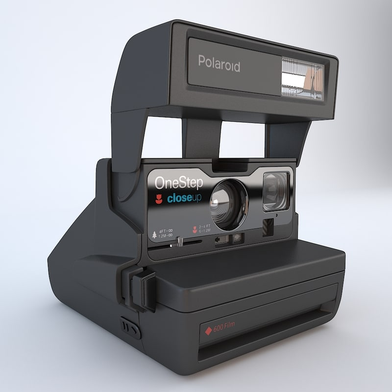 3d polaroid modelled model