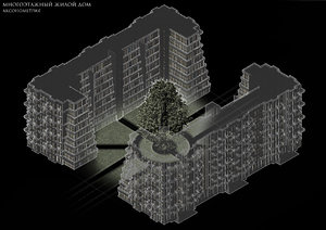 architectural house 3d rvt