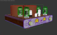 tube amplifier 3d model