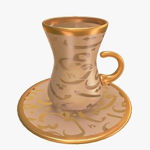 3d arabic teacup