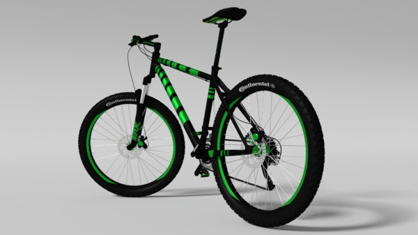 bicycle cross-country 3d obj