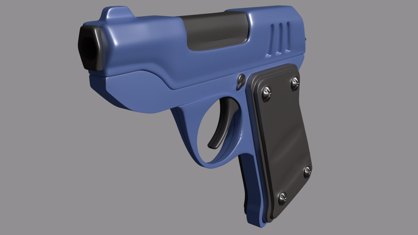 Pistol tf2 low poly (scout & engineer)