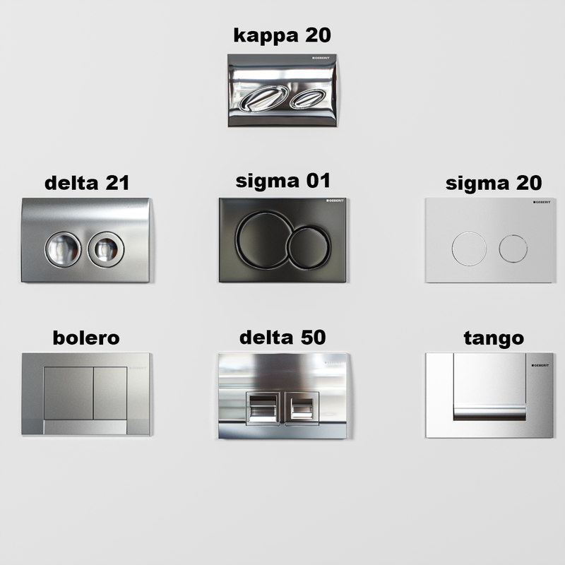 geberit flush panel set 3d max