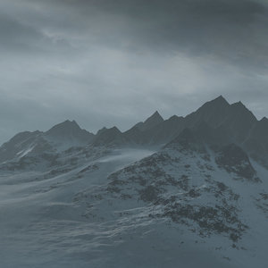 mountain terrain landscape snow 3d model