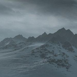 mountain terrain landscape snow 3d model