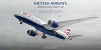 3d boeing 787-8 british airways