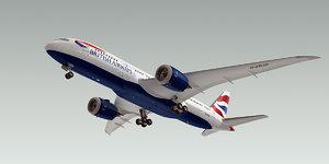 boeing 787-8 dreamliner plane dwg
