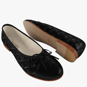 black chanel women ballet 3d max