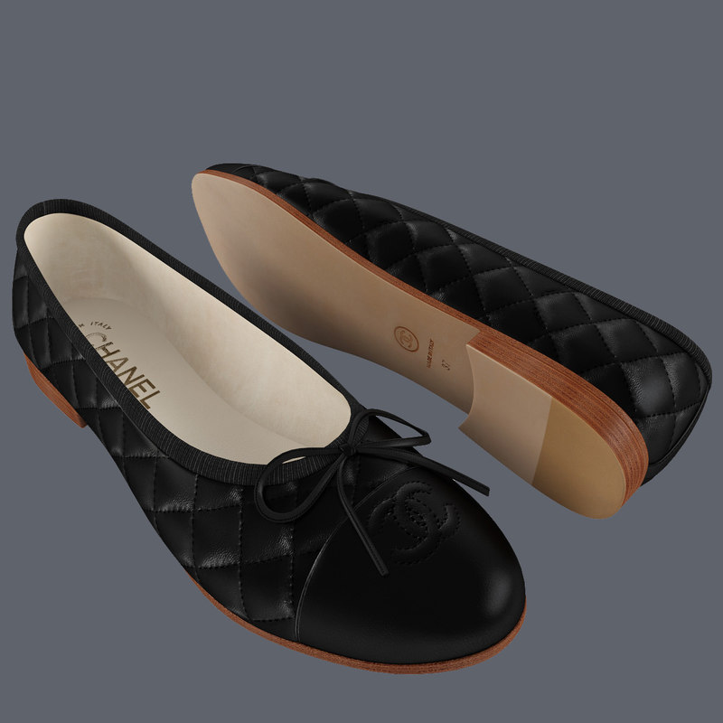 black chanel women ballet 3d max