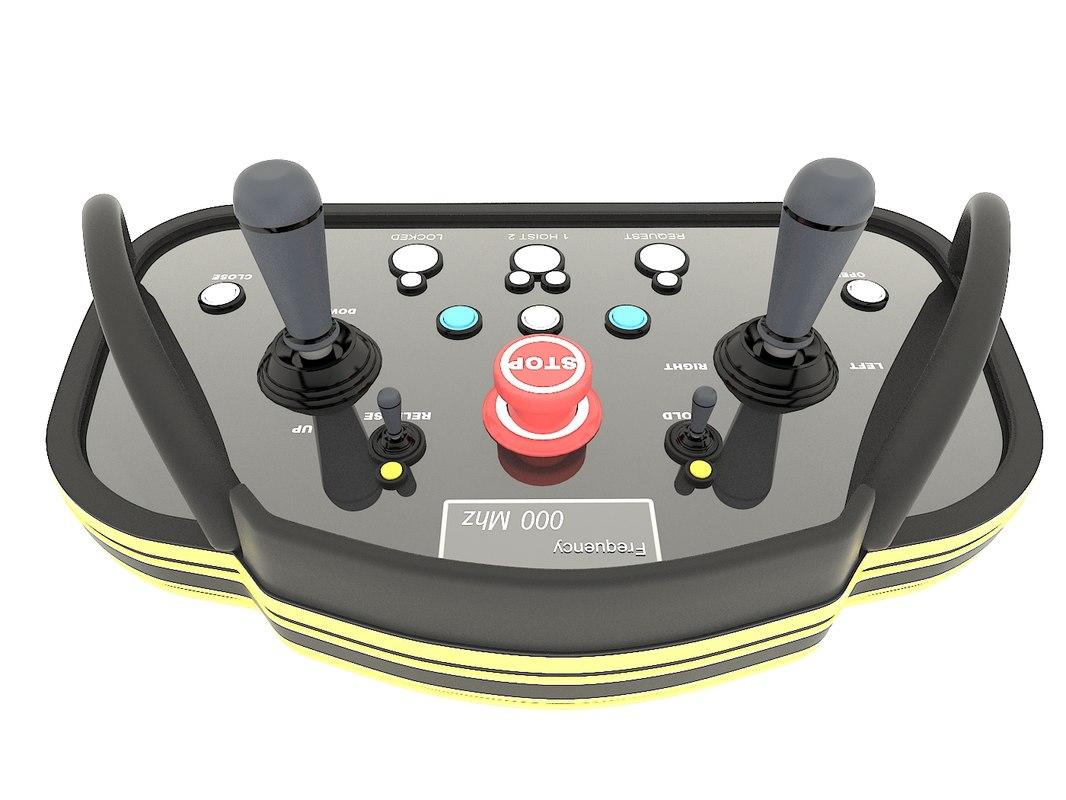 3d model industrial radio remote control