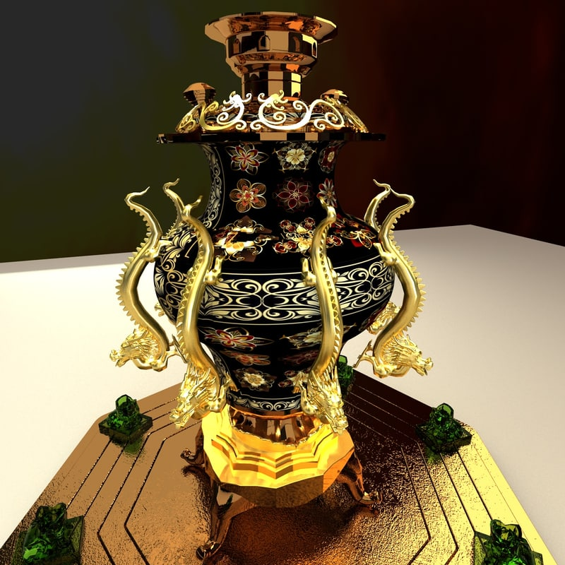 3d chinese bronze model