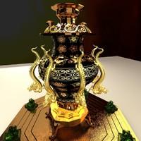 3d chinese bronze model