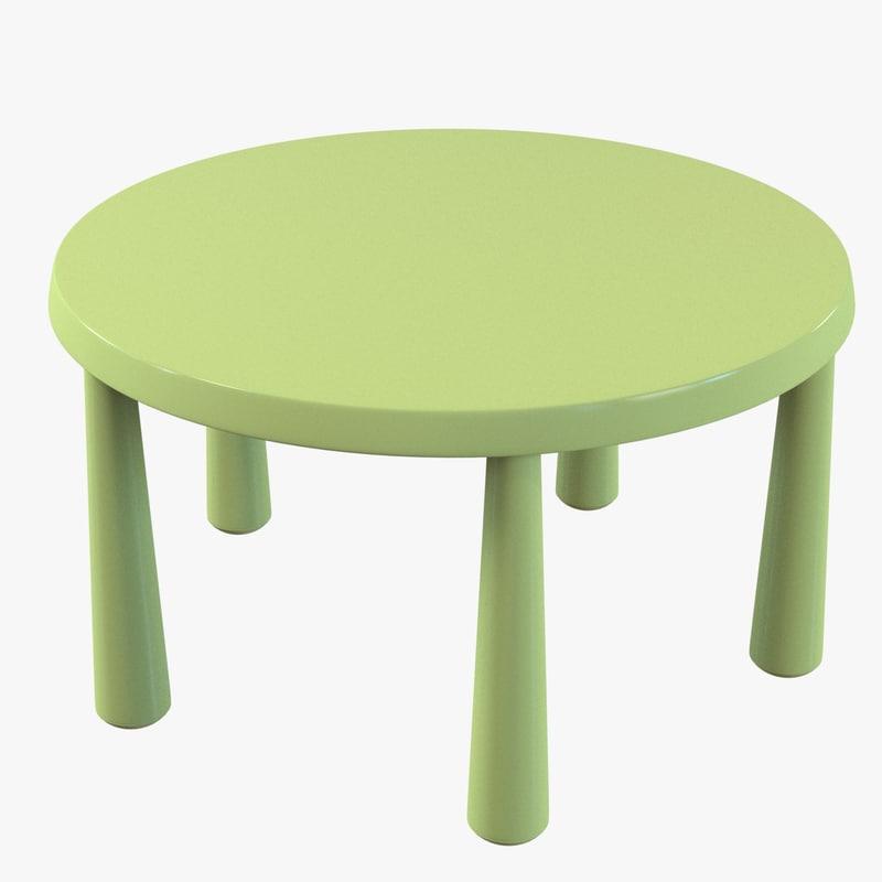 interesting d model ikea mammut children table with table mammut. Black Bedroom Furniture Sets. Home Design Ideas
