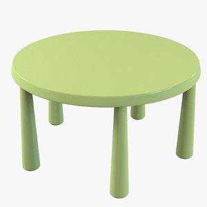 3d model ikea mammut children table