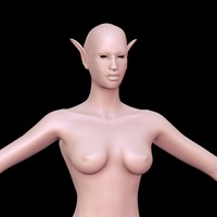 3d obj elf female