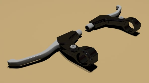 3d model cycle lever bycycle