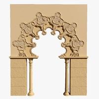 morrocan gate 3d model