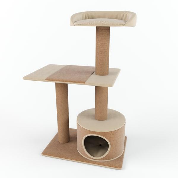 3d playhouse cat tree