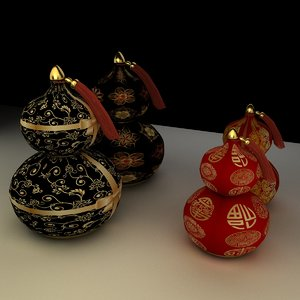 chinese gourd 3d model