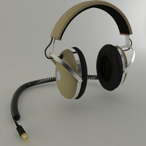 headphone phone 3d model