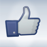 3d model of facebook icon