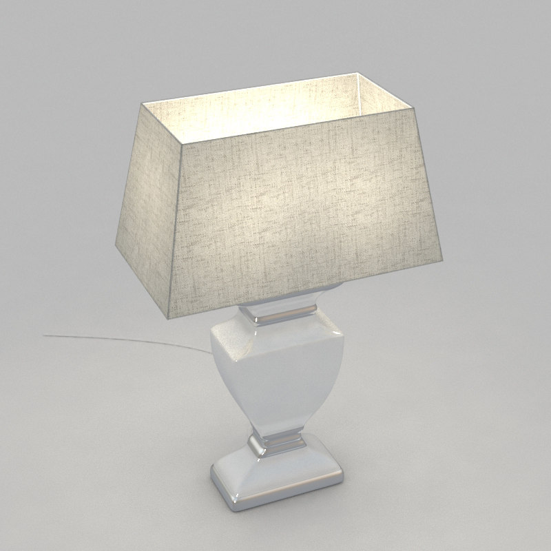 3d table lamp light