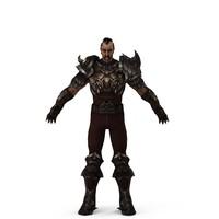 3d warrior character