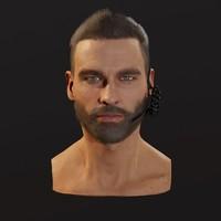 3d soldier head model