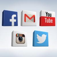 social icons obj