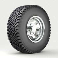 3d model of wheel tire