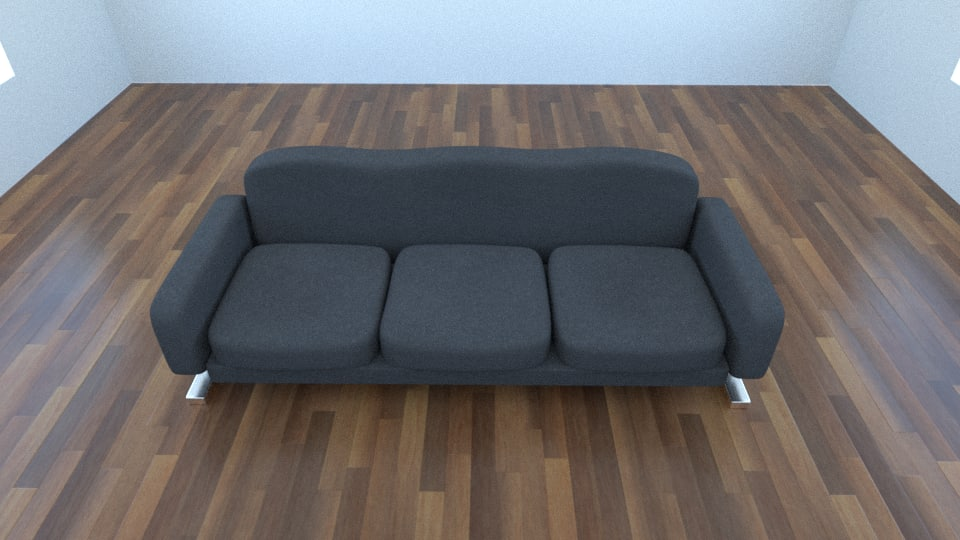 couch photorealistic scenes 3d obj