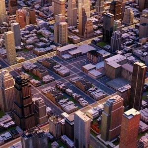 3d cityscape city streets model