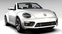 cabrio beetle cabriolet 3d obj