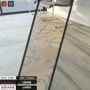 3d model tile ariana larix set